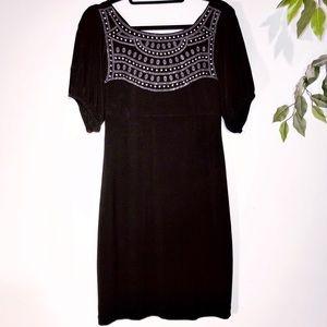 Bisou Bisou Cold Shoulder Black Dress
